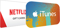 iTunes and Netflix gift cards