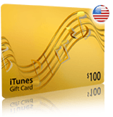 $100 iTunes gift card - for iTunes Store USA