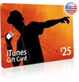 $25 iTunes gift card - for iTunes Store USA