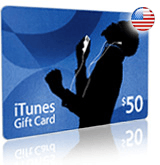 $50 iTunes gift card - for iTunes Store USA